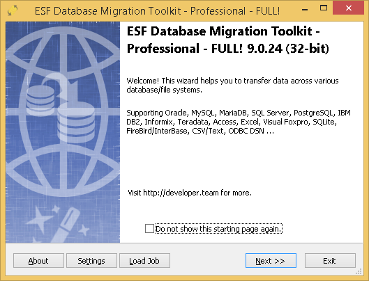 ESF Database Migration Toolkit Professional Edition 9.0.24