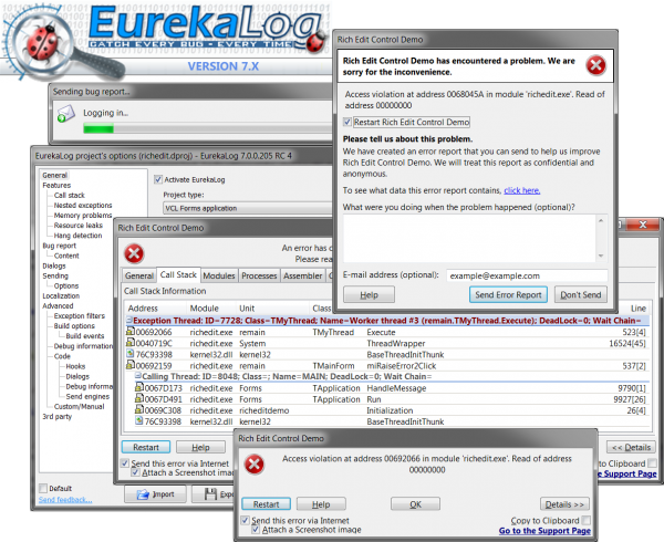 EurekaLog 7.5.1.0 Enterprise for Delphi 10.3 Full Source FiXED