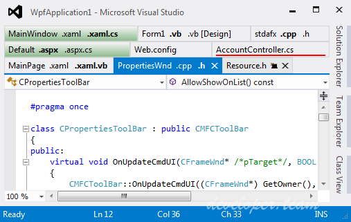 Tabs Studio v4.5.0 for Visual Studio 2010-2017