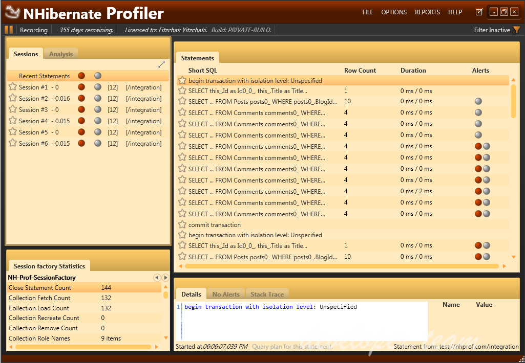 NHibernate Profiler 4.0 build 4041