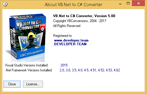 VB.Net to C# Converter 5.01