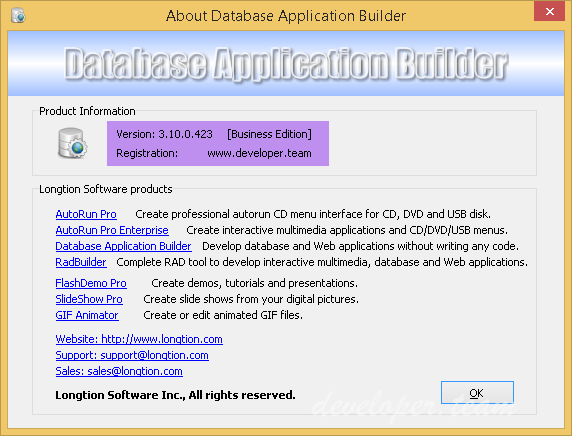Database Application Builder 3.10.0.423 Business Edition