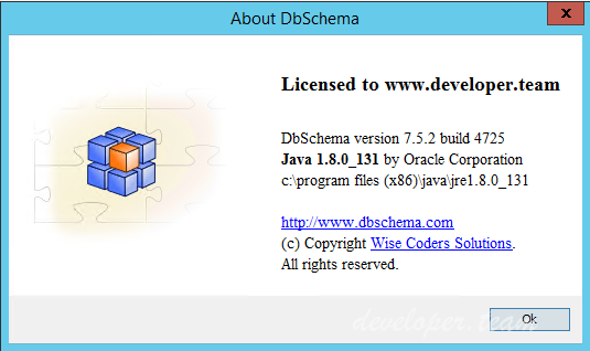 DbSchema 7.5.2 Build 4725 Retail