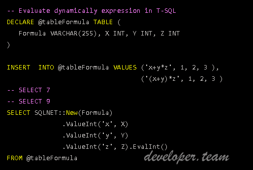 C# Eval Function - Expression Evaluator 2.1.7