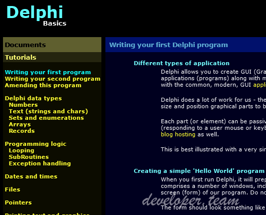 Delphi Basics Version 7.3