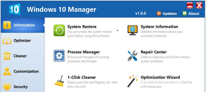 Yamicsoft Windows 10 Manager 2.1.4
