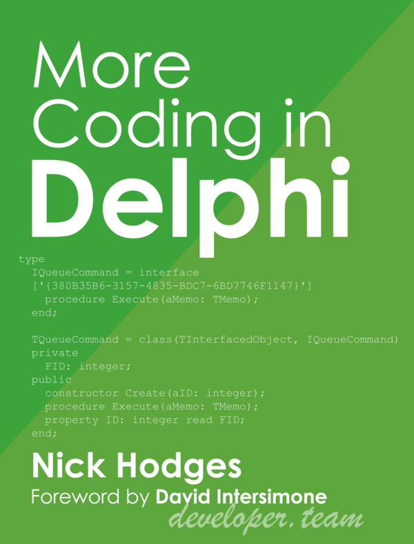 More Coding in Delphi - Nick Hodges