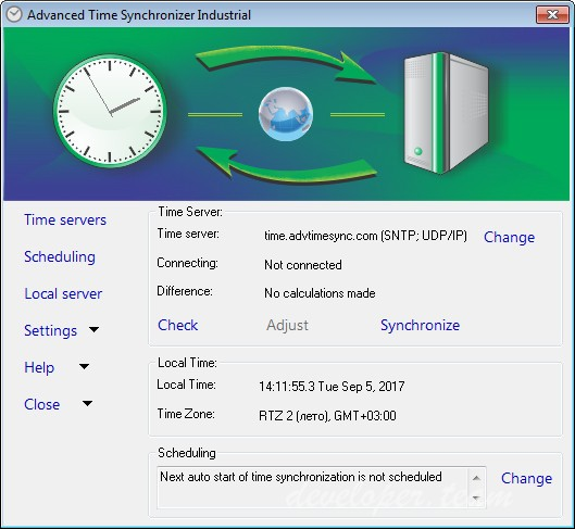 Advanced Time Synchronizer Industrial 4.3 Build 808