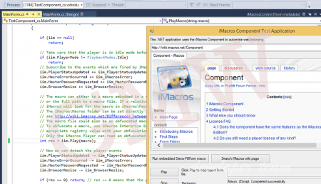 iMacros WebBrowser Component for .NET 12.0.501.1208