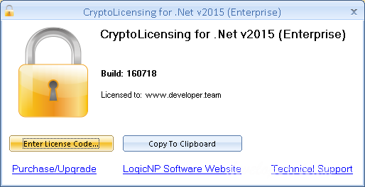CryptoLicensing For .Net v2015 Enterprise Build 170208