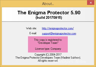 The Enigma Protector 5.90 Build 20170915