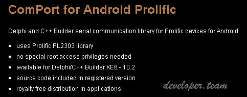 ComPort for Android Prolific 2.7 XE8-D10.2