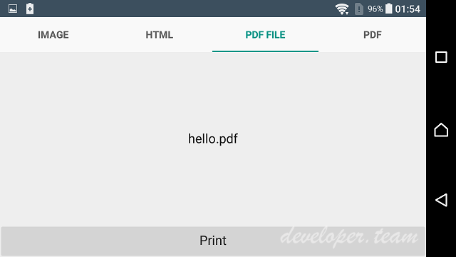 Printing Library for Android 2.2 XE7-D10.2 Tokyo