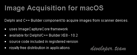 Winsoft Image Acquisition for macOS 1.0 Delphi XE8 - 10.2