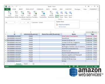 CData Excel Add-In for Amazon DynamoDB v17.0 Build 6521
