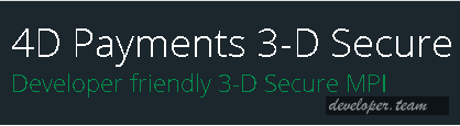 4D Payments 3-D Secure 16.0.6577 .NET/C/C++/Node.js/ActiveX Edition