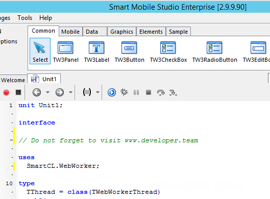 Smart Mobile Studio Enterprise 2.9.9.90 Alpha Retail