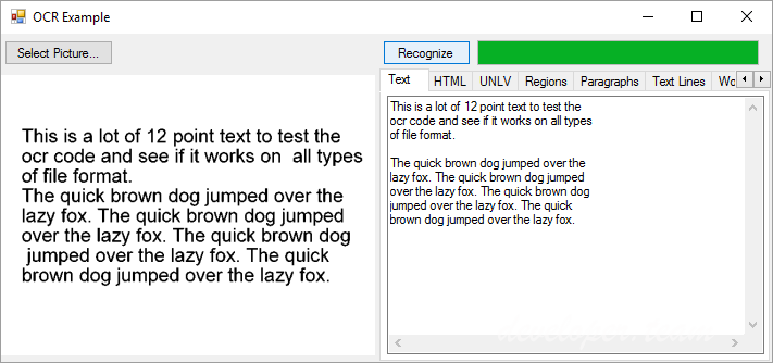 WinSoft Optical Character Recognition for .NET v5.0