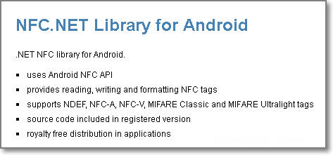 Winsoft NFC.NET Library for Android 2.3 Full Source