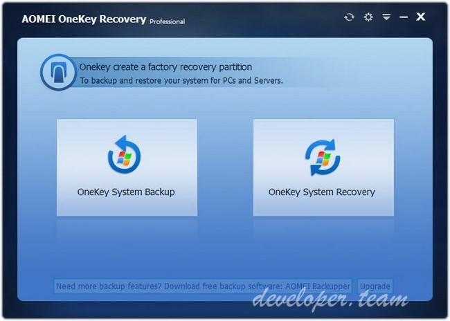 AOMEI OneKey Recovery Professional Edition 1.6.1