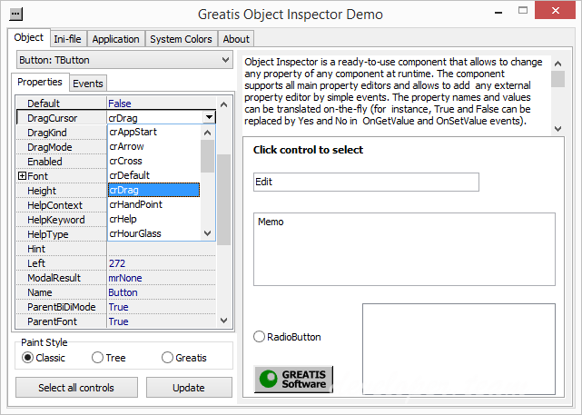Greatis Object Inspector
