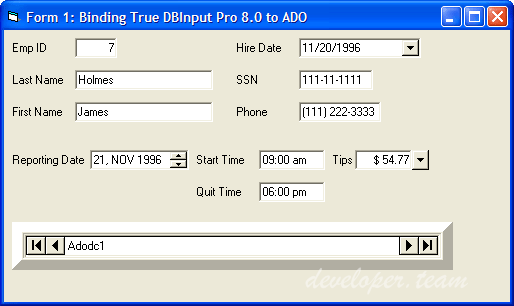 Apex True DBInput Pro 6.0 ActiveX