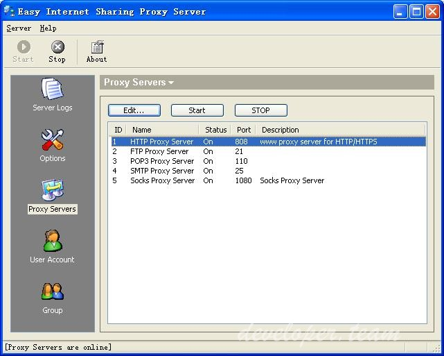 Easy Internet Sharing Proxy Server 2.2