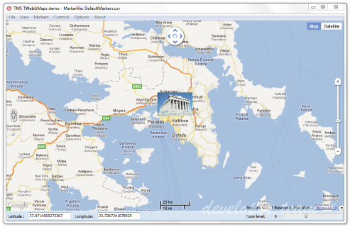 TMS VCL WebGMaps 2.9.7.1 for XE2-XE10.2
