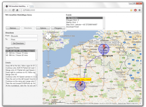 TMS IntraWeb WebGMaps v1.6.1.0 DXE-D10.3 Rio Full Source