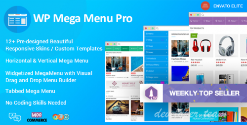 WP Mega Menu Pro v1.0.8 - Responsive Mega Menu Plugin for WordPress