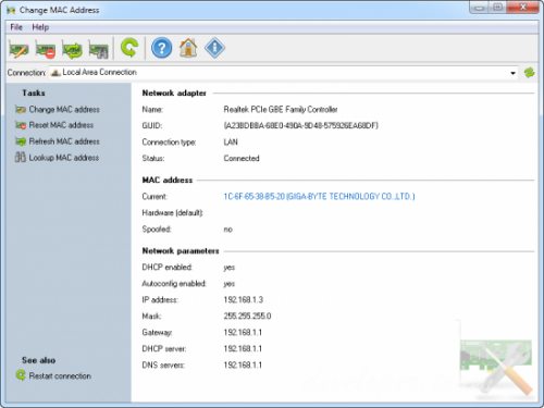 Change MAC Address 3.2.0 Build 123 Multilingual