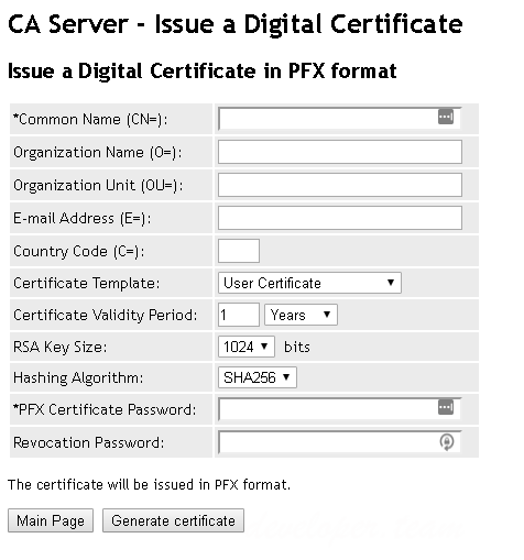 Certification Authority Server for IIS 5.0 Retail