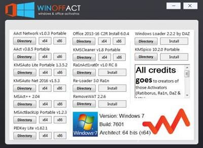 Winoffact 1.0 – Windows & Office Activators (All in One)