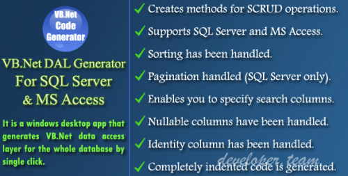 VB.Net DAL Generator for SQL Server and MS Access