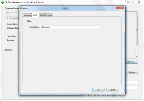 C# DAL Generator for SQL Server and MS Access