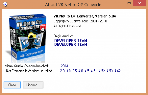 VB.Net to C# Converter 5.04