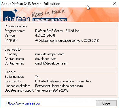 Diafaan SMS Server 4.2.0.2 Full Edition Retail