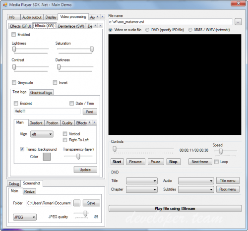 VisioForge Media Player SDK .Net v10.4.6.0 Professional Retail