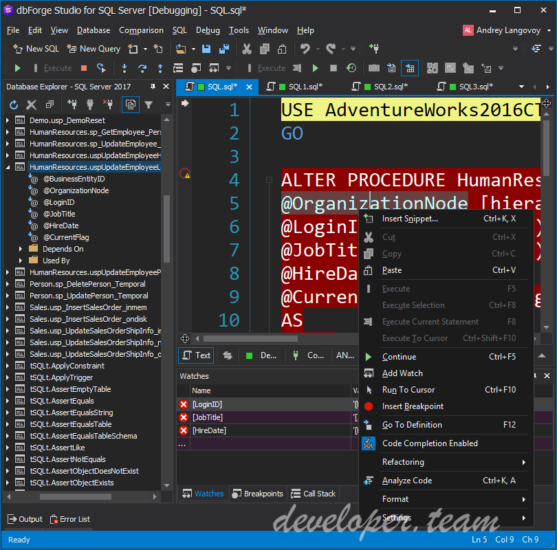 Devart dbForge Studio for SQL Server 5.5.365