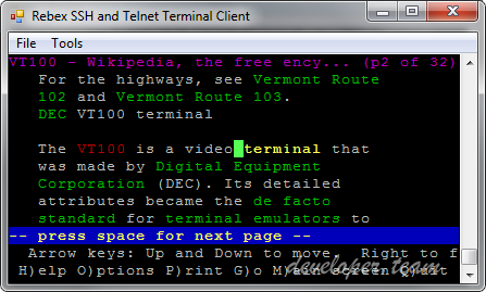 Rebex Terminal Emulation client library for .NET 2018 R2