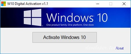 Windows 10 Digital Activation Program 1.3.5