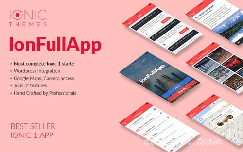 IonFullApp | Full Ionic Template + Cordova Plugins 1.3.0