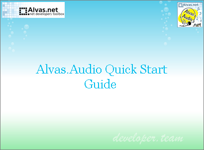 Alvas.Audio C# audio library for .Net Developers 2018.0